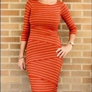 Anthropologie Tiered Stripes Column Dress NWOT